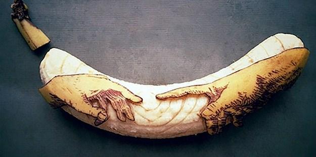 Арт из банана от Stephan Brusche