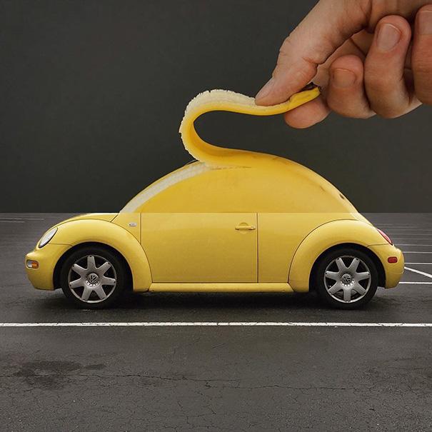 Автомобиль и банан