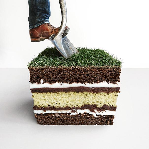 Торт и трава