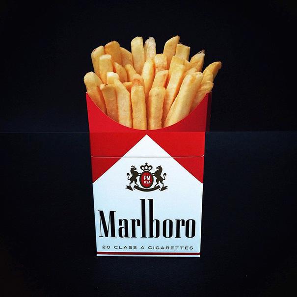 Картофель фри и сигареты