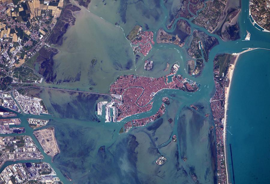 Венеция, Италия, фотография с МКС.