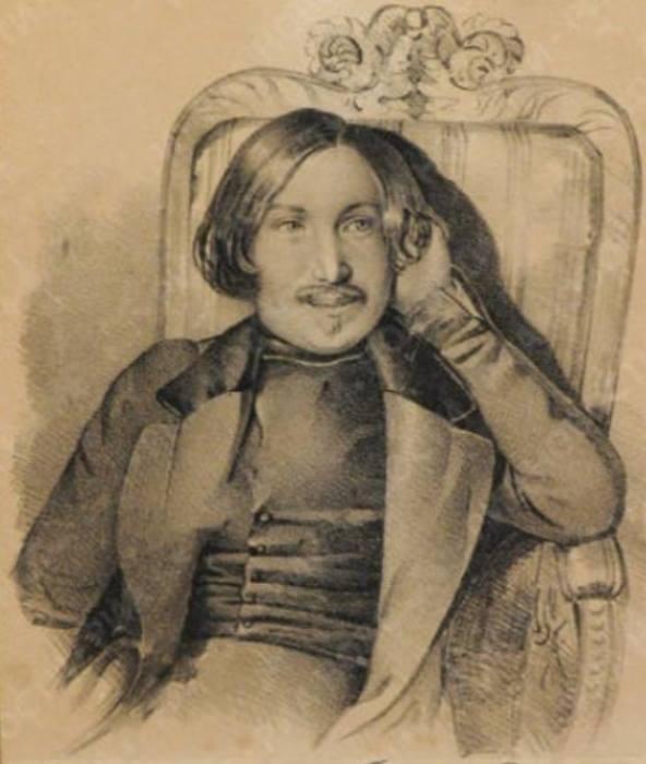 К. Мазер. Портрет Н. Гоголя, 1841