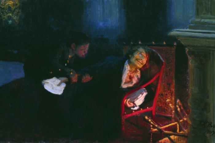 И. Репин. Самосожжение Гоголя, 1909