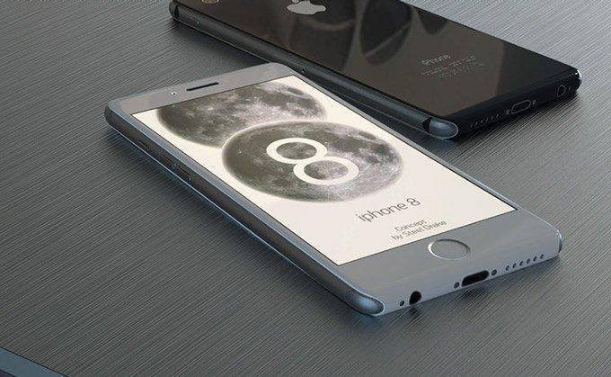 Дизайнеры показали концепт iPhone 8 с безрамочным дисплеем