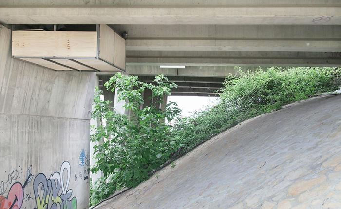 Рабочий кабинет под мостом