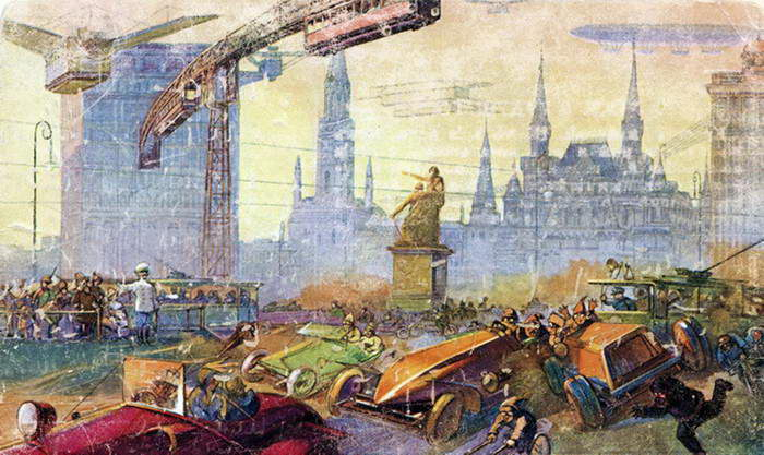Москва будущего глазами художников 1914 года