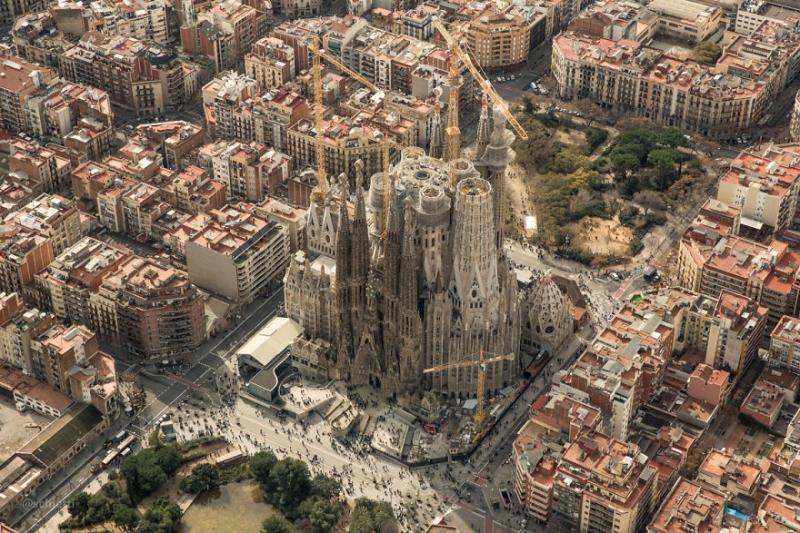 Барселона с высоты