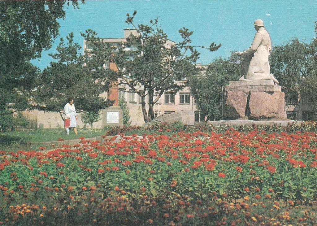 Памятник на братской могиле советских воинов.