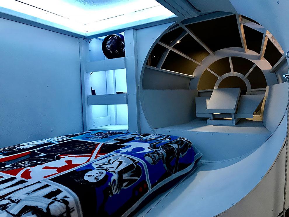 """Спальня в стиле """"Звёздных войн"""" для ребёнка"""