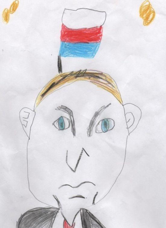 Дети рисуют Путина