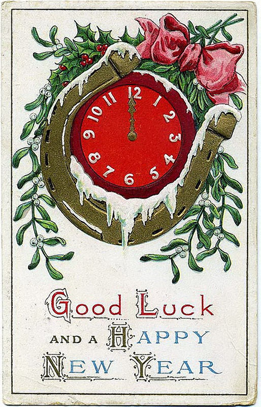 Зарубежные открытки С Новым Годом!