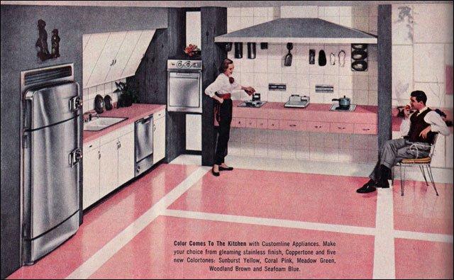20 замечательных американских кухонь 1950-х годов