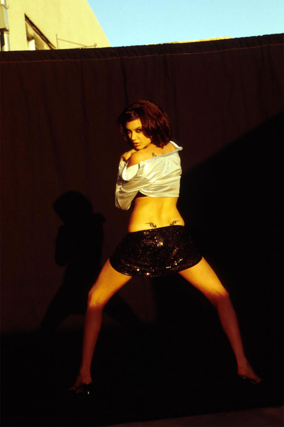 Анджелина Джоли на фотосессии Марселя Индика в 1995 году