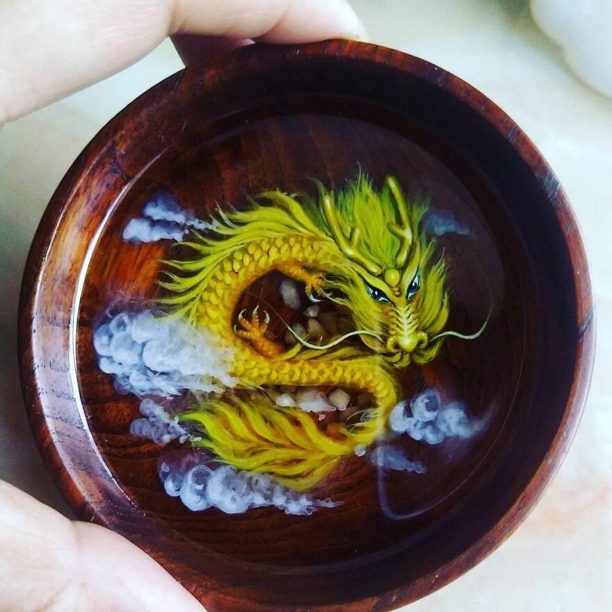 Красивые и натуральные картины из смолы Фейфа Донга