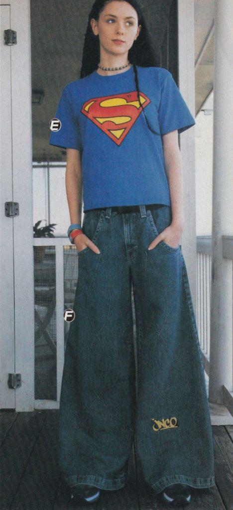 Широкие джинсы 1990-х годов