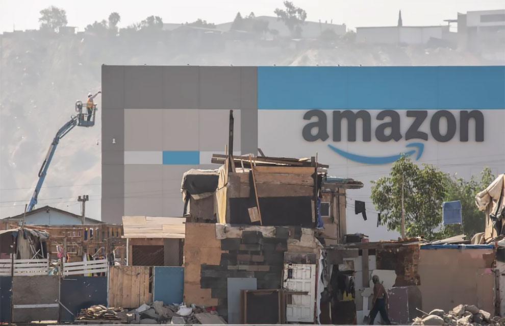 Новый склад Amazon в трущобах Тихуаны