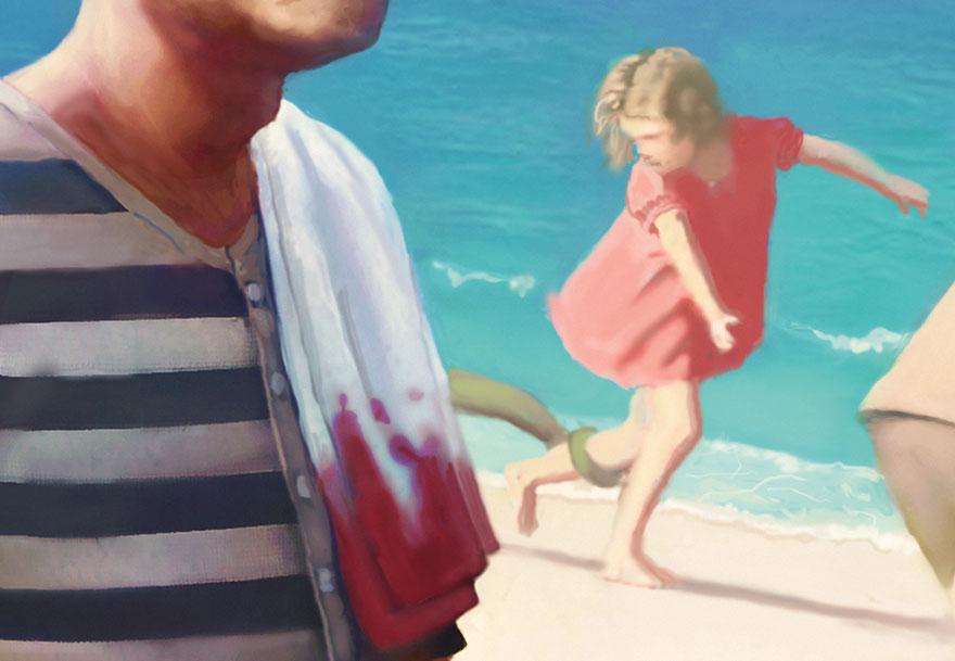 Художник создает очень подробные страшные изображения, и чем больше смотришь, тем страшнее они становятся