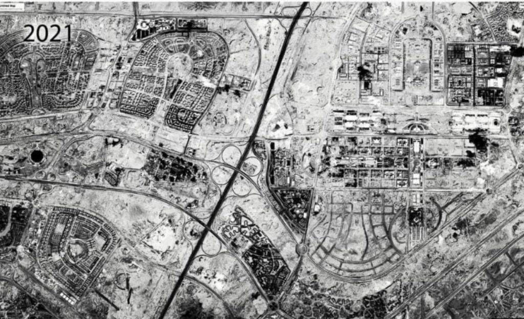 В Египте идет строительство города посреди пустыни