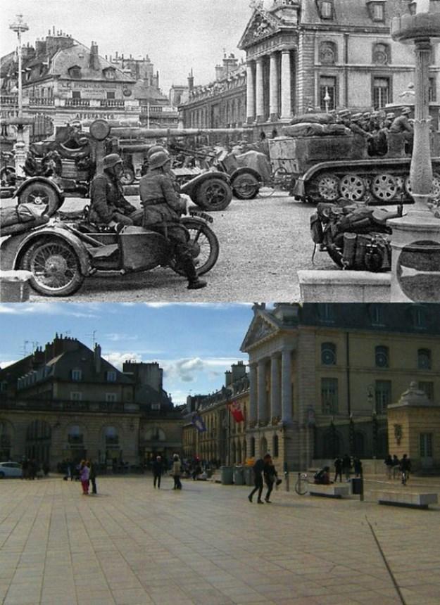 Что изменилось в городе Дижон за последние 70 лет