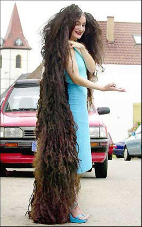 Причёски с очень длинными волосами