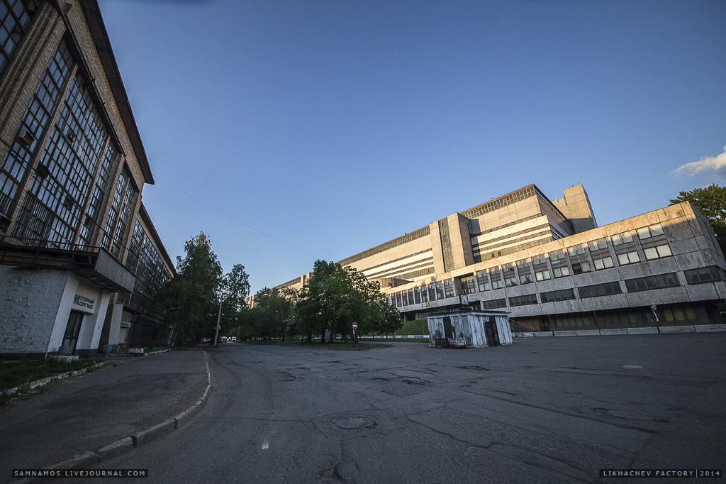 """Самое высокое здание на ЗИЛе - """"Новый Кузовной корпус"""" (на сегодняшний день уже скорее всего снесено)."""