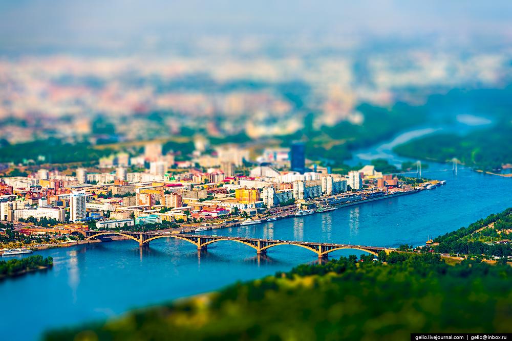 Красноярск — город на Енисее