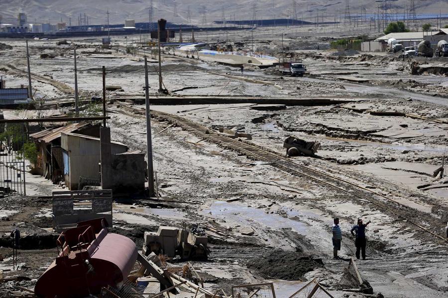 Общий вид местности, затопленной водой, в Диего-де-Альмагро.