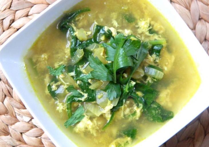 Суп имбирь карри и яйцо