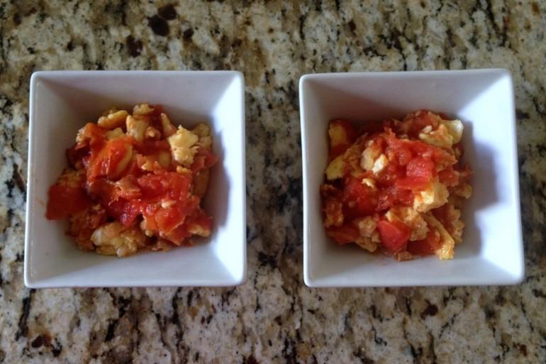 Китайская яичница с помидорами