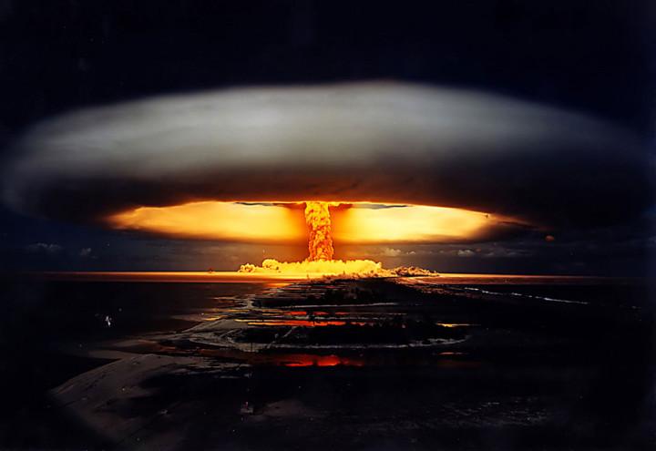 """""""Единорог"""" ядерное испытание - французская Полинезия, 1970 г."""