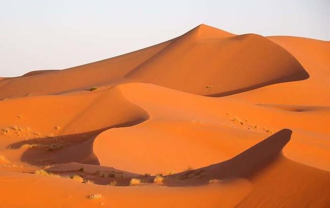 Эрг Шебби находится в одном из двух больших песчаных дюн пустыни ветры морей, созданные на протяжении веков. Некоторые дюны в Эрг-Шебби достигают высоты почти 153 метра.