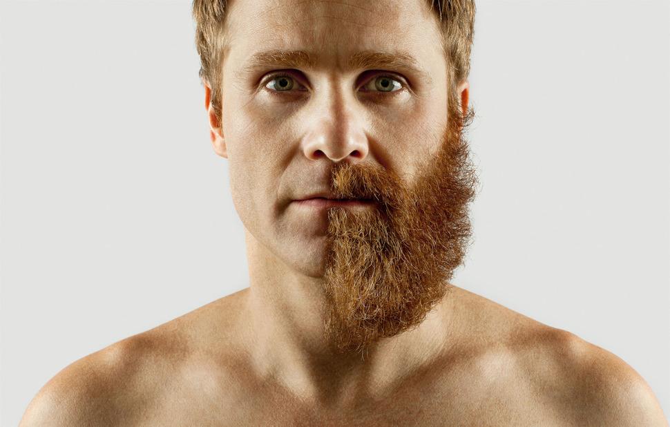 Эдриан Аларкон ростил бороду 4 месяца, и побрил её наполовину.