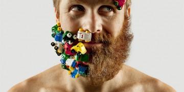 Бритая хипстерская борода превращается в арт-проект