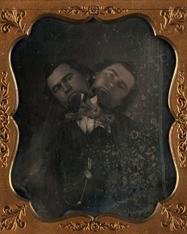 Двухголовый мужчина, Калифорния, 1855 г.