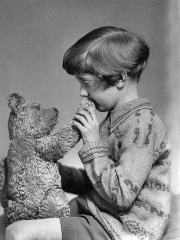 Настоящие Винни Пух и Кристофер Робин, 1927 г.