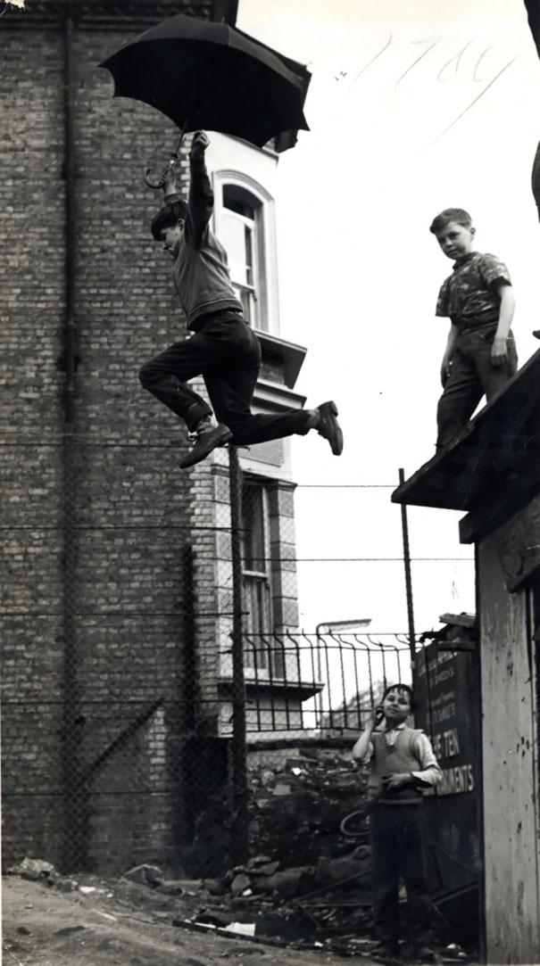Прыжок с зонтом, 1963 г.