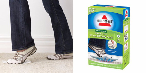 Салфетки для чистки ковровых покрытий ногами.