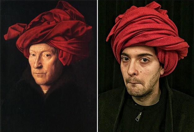 """""""Портрет мужчины в Тюрбане"""" Яна Ван Эйка, 1433 г."""
