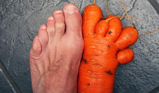Ступня и морковь