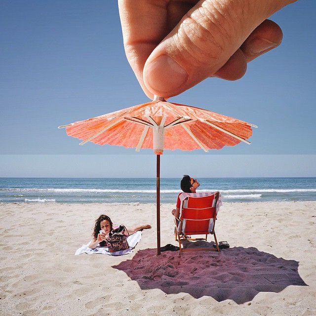 Зонтик для коктейля и пляжный зонтик