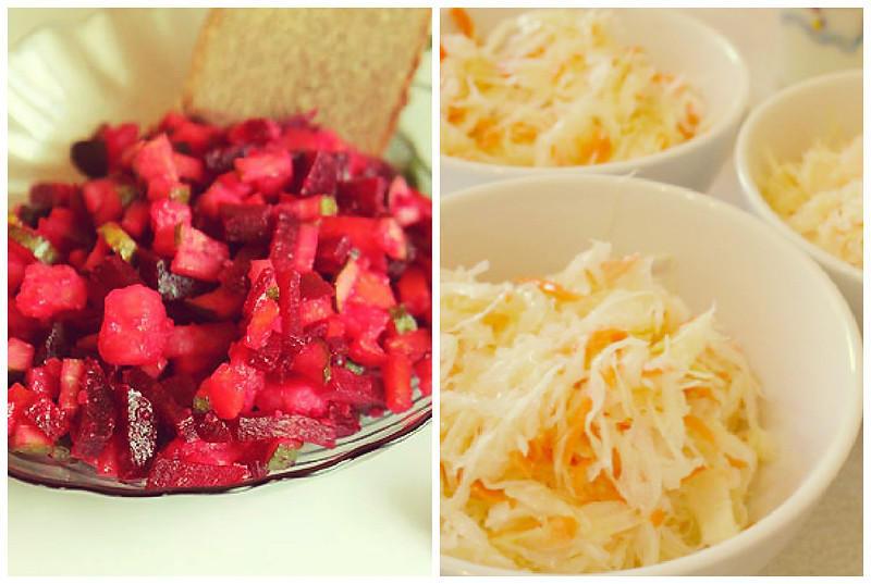 Винегрет и салат «Витаминный»