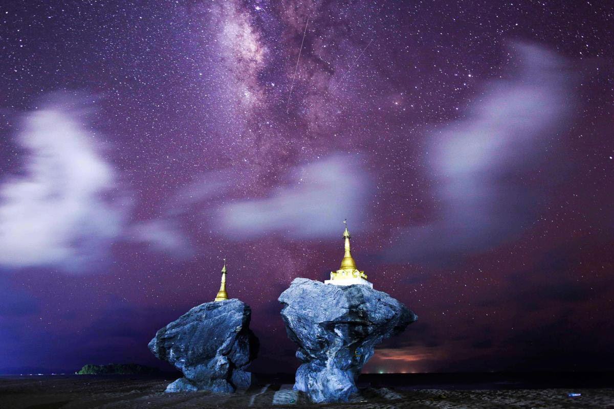 Млечный путь и небо над Мьянмой. (Фото: Ye Aung Thu)
