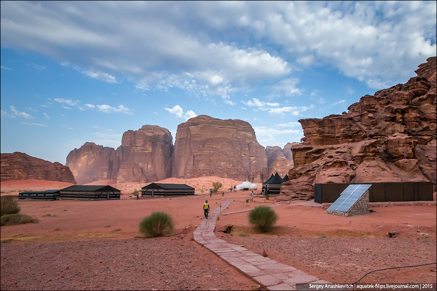 Luxury Camp в пустыне Вади-Рам, Иордания. Сентябрь 2015