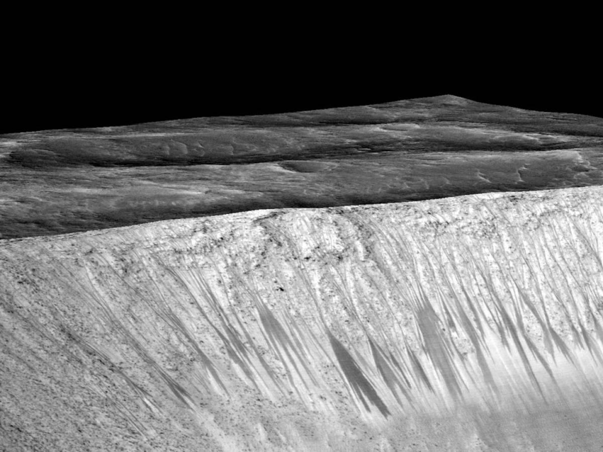 Фотографии воды на Марсе
