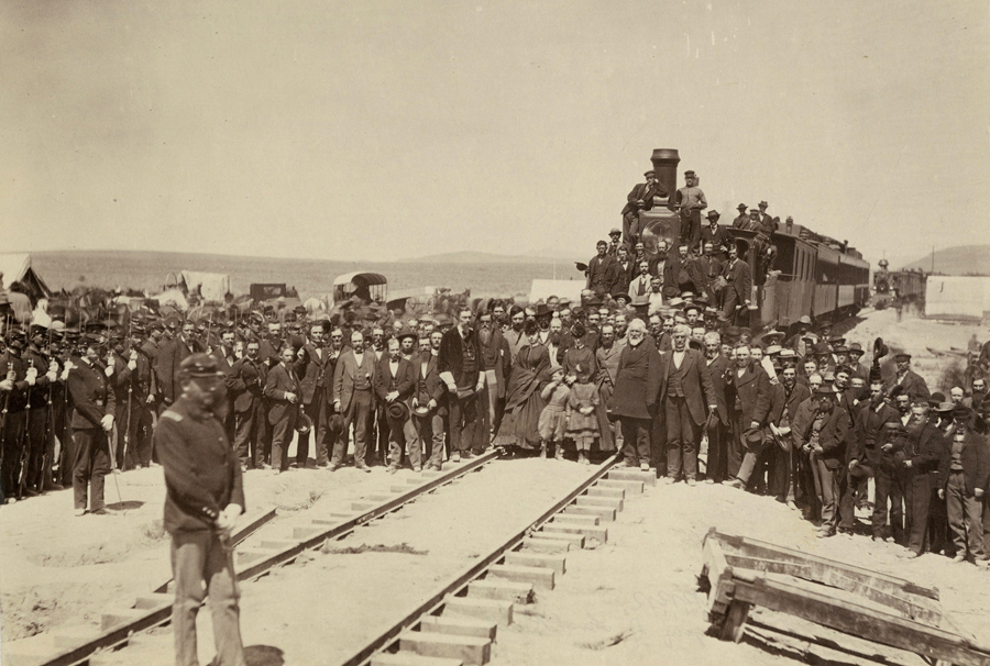 Officers at U.P.R.R. Laying of the last rail