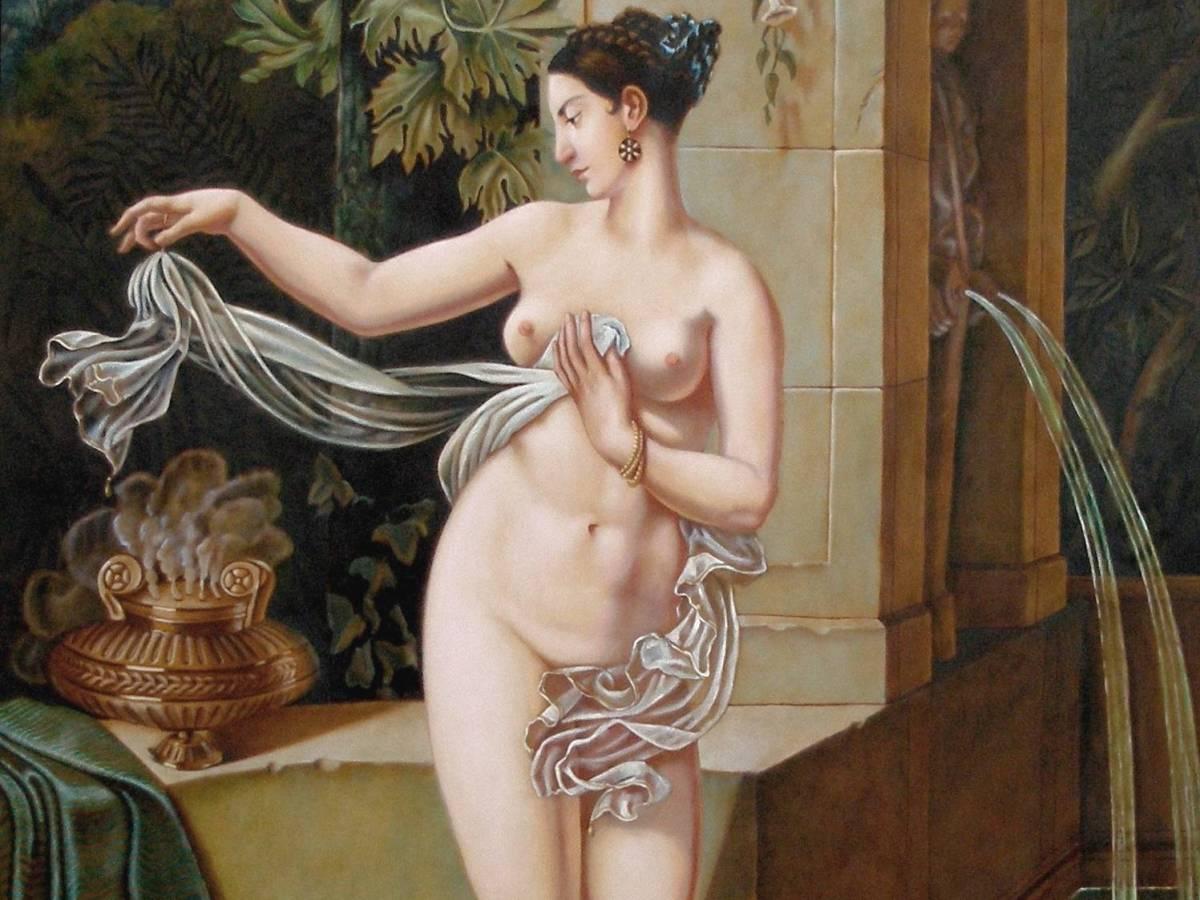 Масляная живопись La Circassienne au bain