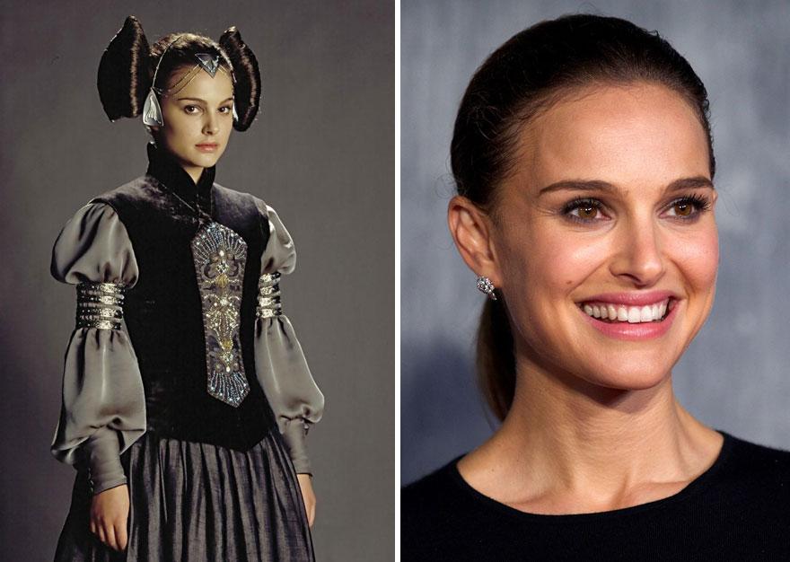 Натали Портман (Падме Амидала), 2003 г. и 2015 г.