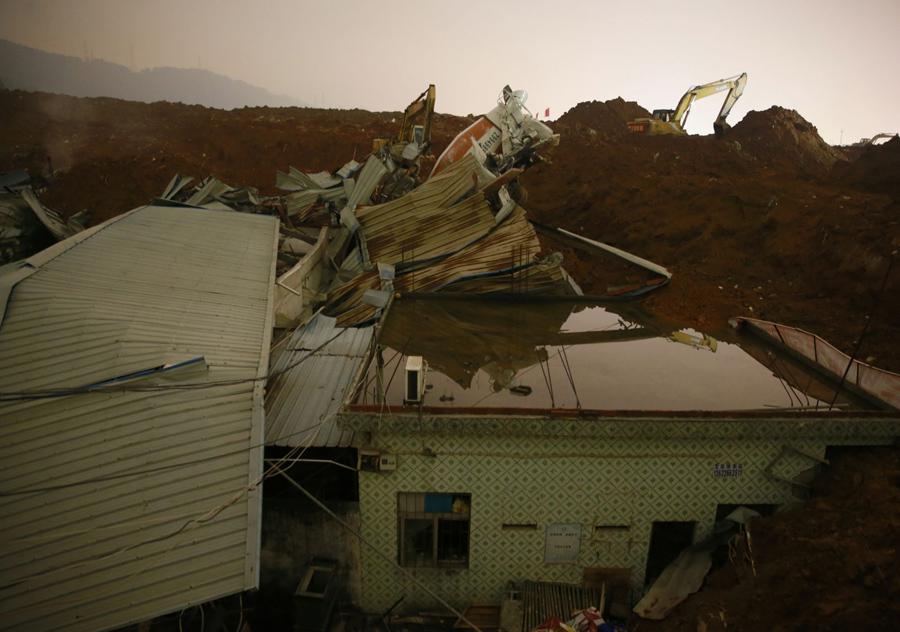 Разрушенные дома в Китае, 21 декабря, 2015.