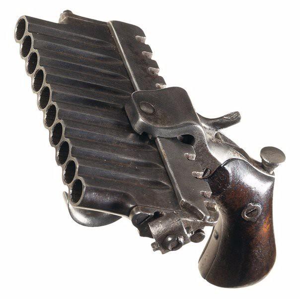 10-зарядный французский пистолет середины XIX века