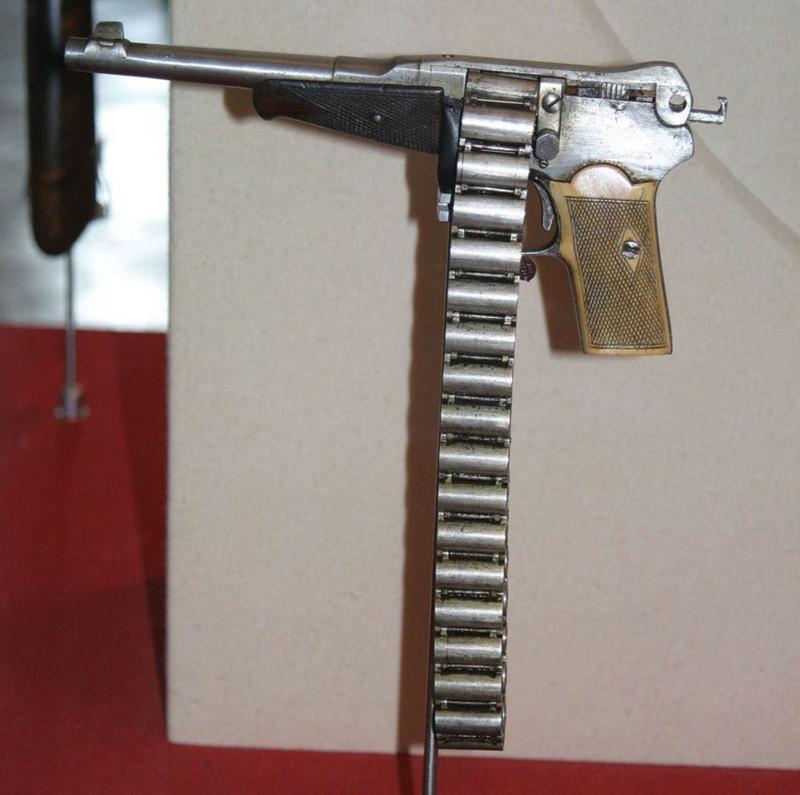 Пистолет с цепным механизмом на 36 патронов